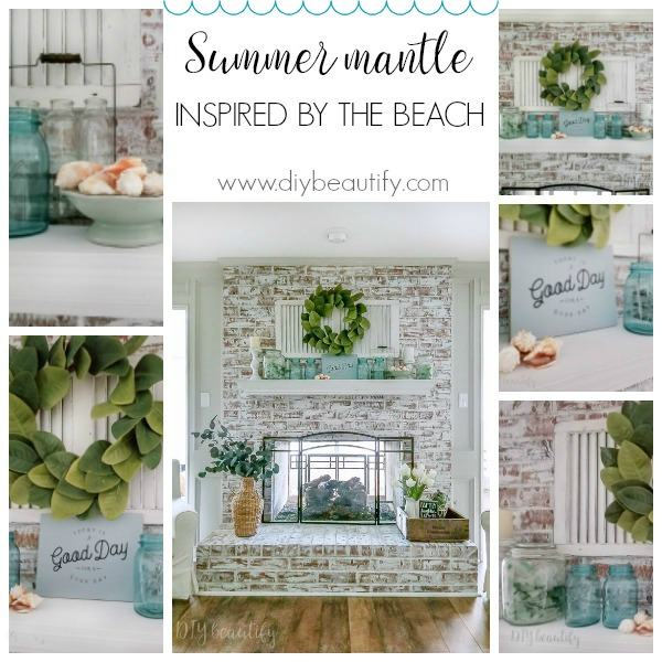 Summer mantle inspired by the beach | DIY beautify