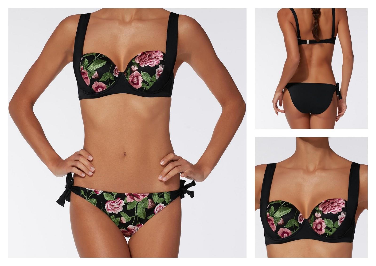 5fbbaf483d3 Bikini con top anudado - ZAFUL. COMPRAR. Bikini push up bordados Alison -  CALZEDONIA