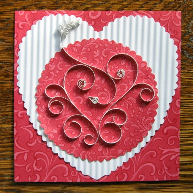 Quilled Valentine Heart Card