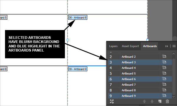 How to say which artboards are selected