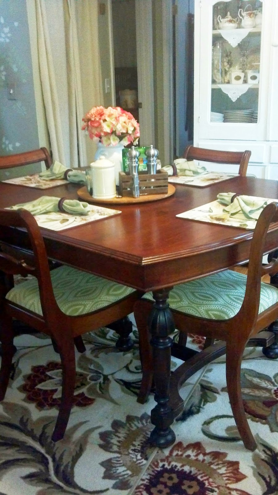 After: Dining table and chairs