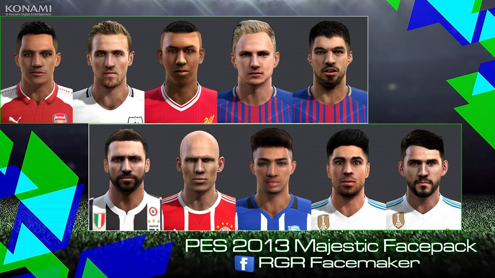 PES 2013 Majestic Facepack by Rgr Facemaker
