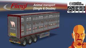 Fliegl Animal Transport Trailer