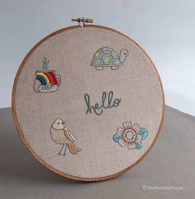 Mini Embroidery Patterns by SeptemberHouse