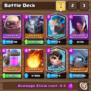 Battle Deck Clash Royale 3