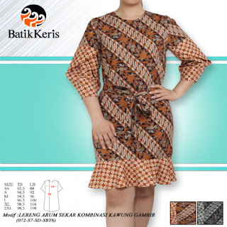 model baju sackdress batik