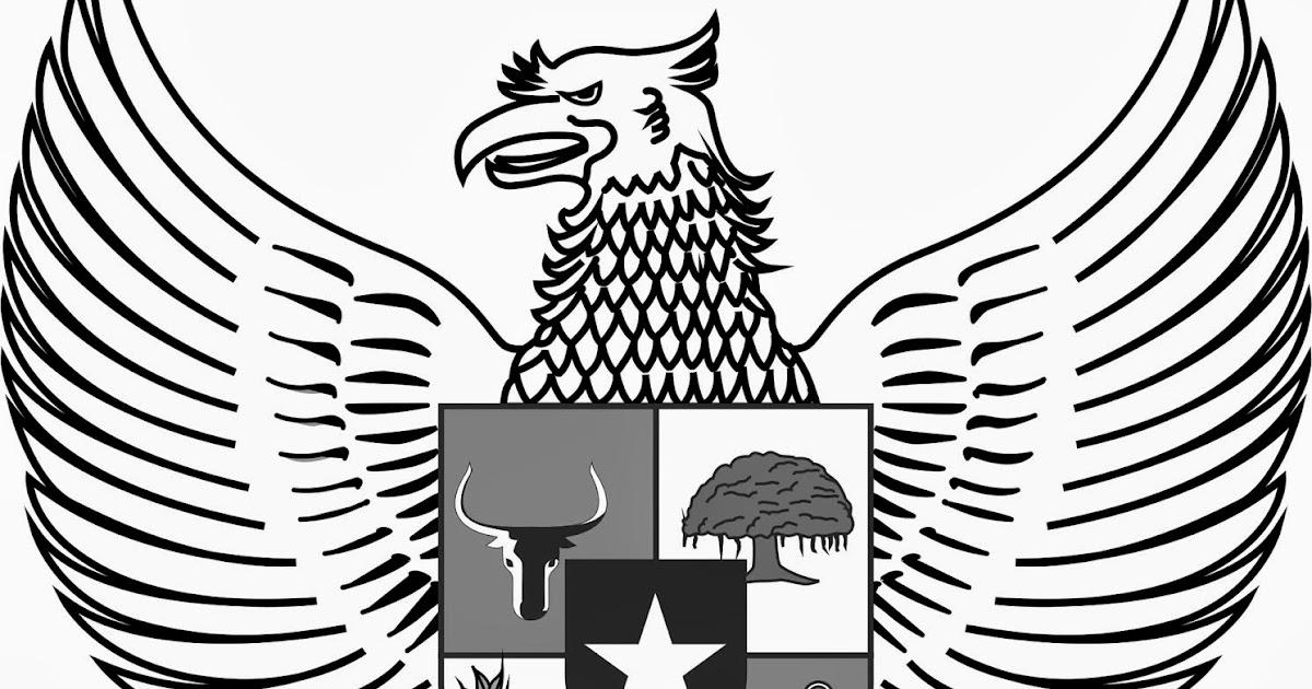 Logo Lambang Garuda Hitam Putih Bw Cari Logo