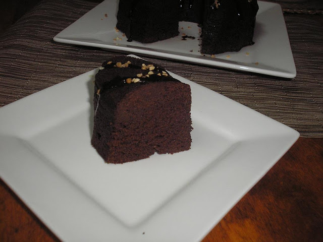 "Brownie ""muerte por chocolate"" al microondas"
