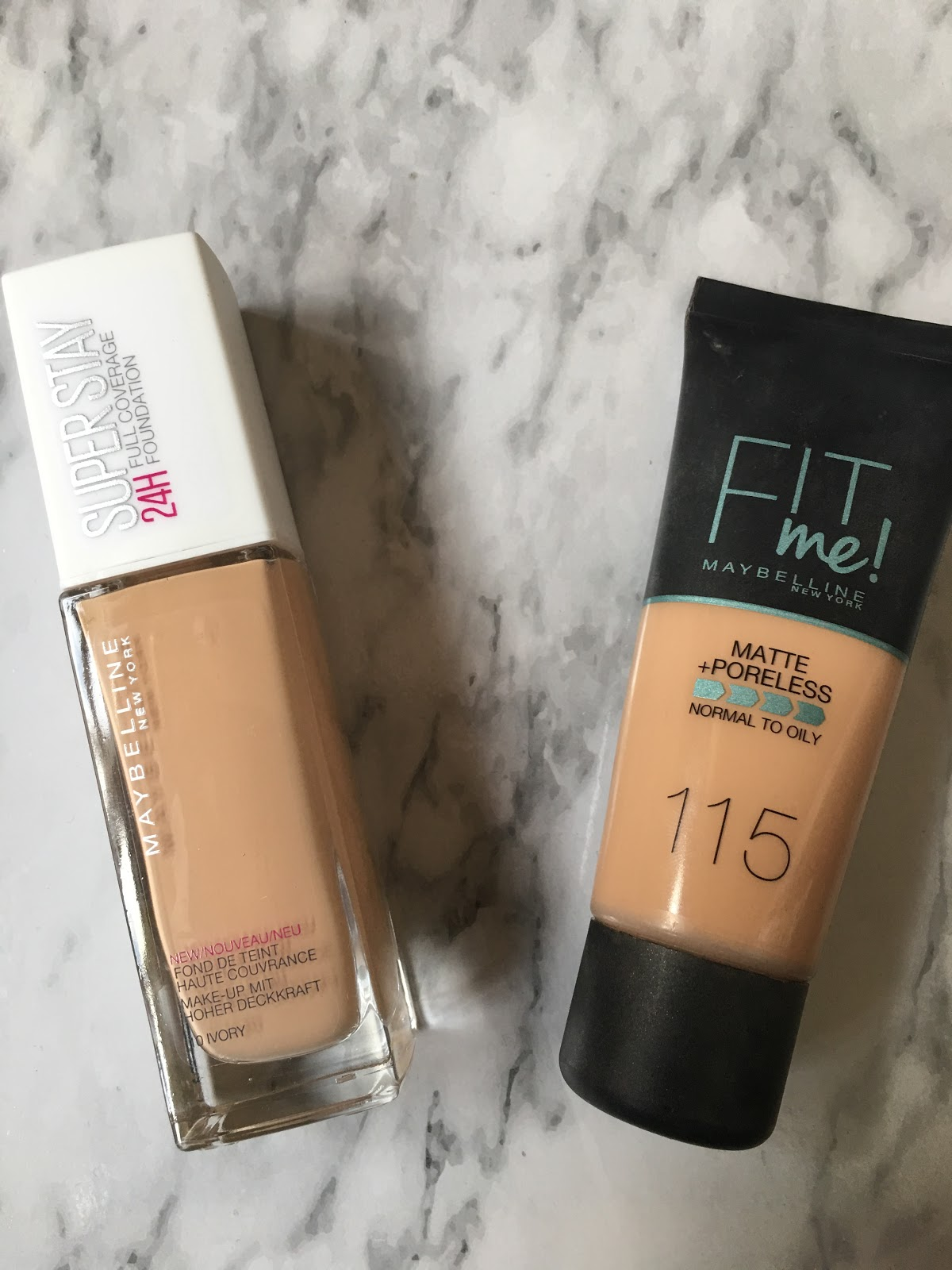 Maybelline 24 Hour Superstay Foundation Vs Fit Me Juelook Airyrooms Matte Poreless 30ml Its A Good For The Price And I Say Simular To Rimmels Lasting Finish As Thats What It Reminds Of