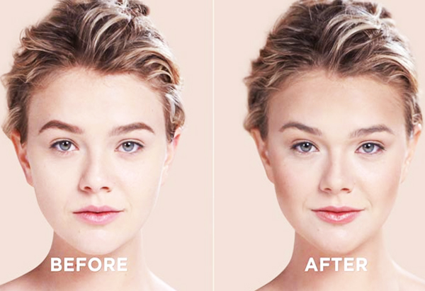 After-Before End Result (Contouring For Heart-Shaped Face) Beauty & Styles #MakeUpArts