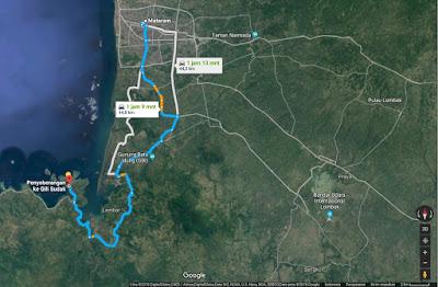 Rute menuju Penyeberangan Gili Sudak - Lombok