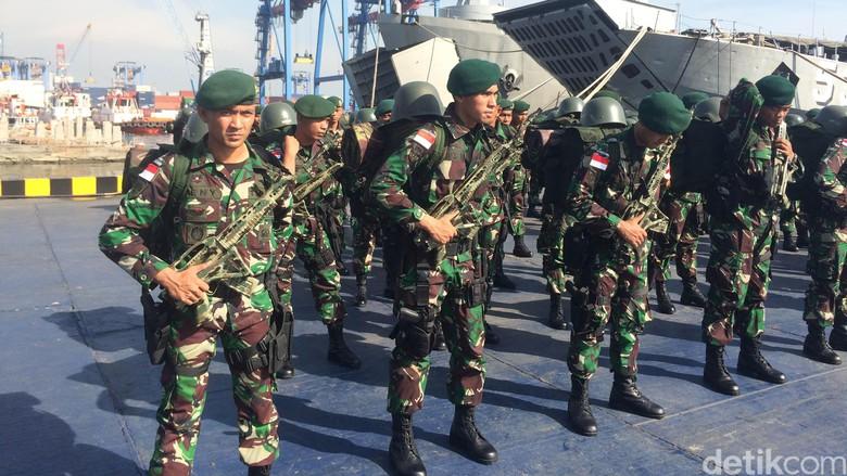450 Personel Yonif Para Raider 330/TD Kostrad Dikirim Untuk Menjaga Perbatasan RI-Papua Nugini