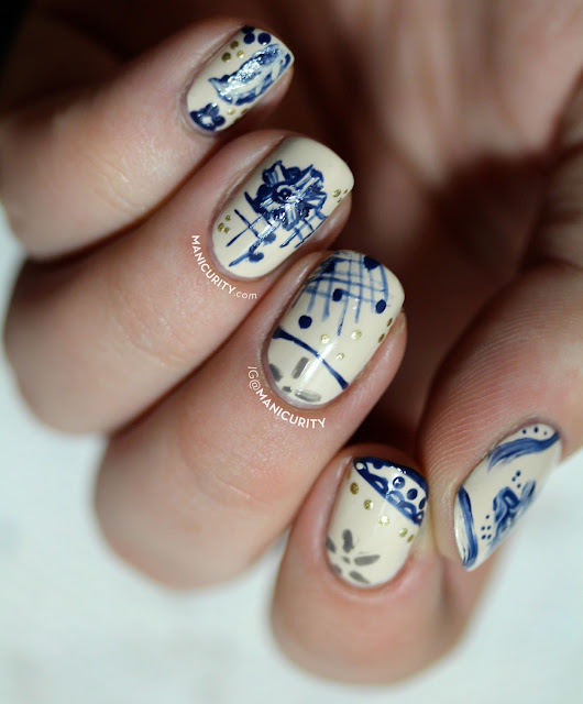 The Digit-al Dozen: Freehand Floral Pattern Bone China Nails