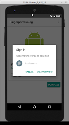 Android Using Fingerprint Authentication Dialog
