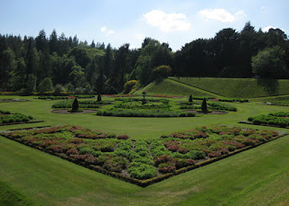 Formal garden, Drumlanrig Castle, Scotland