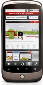 Opera Mobile 10.1 Beta for Android available for download