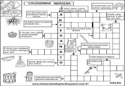 Palavra cruzada indígena