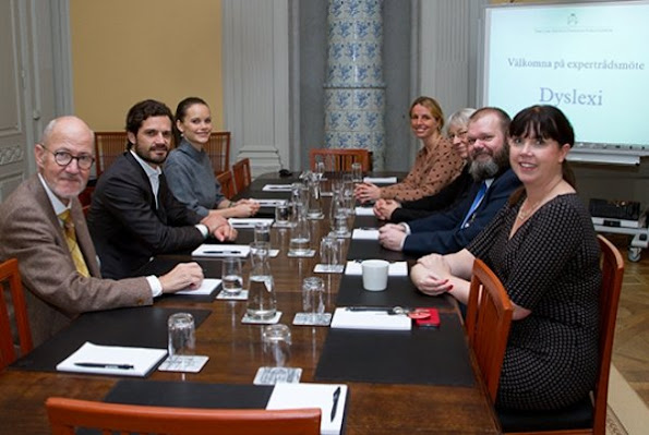 Prince Carl Philip and Princess Sofia attended a meeting with a specialist council for dyslexia disease