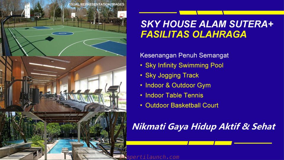 Fasilitas Olah Raya Sky House Alam Sutera