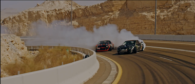 Khalifa  bin Zayed Al Nayhan drifting at Jabal Hafeet