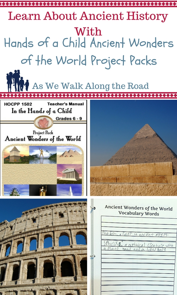 Ancient Wonders of the World notebooking pack from Hands of a Child