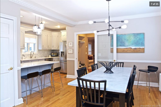 Aladdin Yale kit house  • dining room and kitchen • 21 Amundsen St Norwalk CT