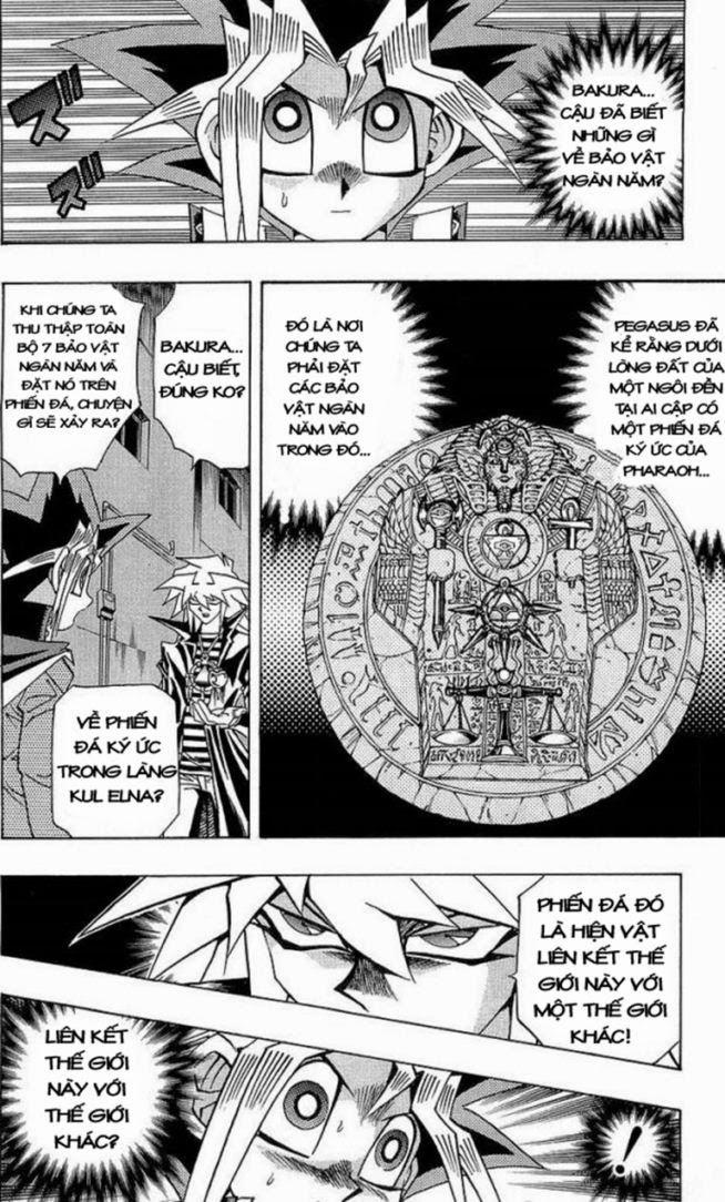 YUGI-OH! chap 281 - hiện vật bí ẩn trang 4