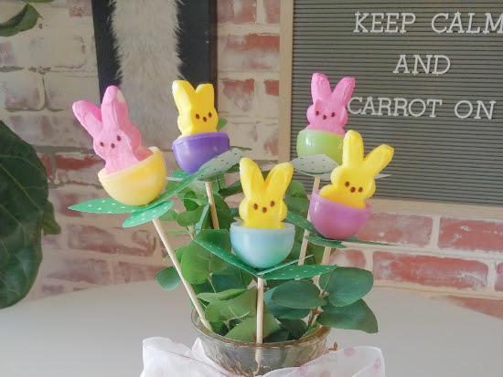 Last Minute Easter Peeps Floral Arrangement
