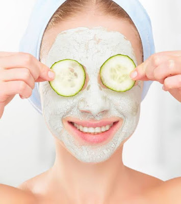 Summer facial Pack for sensitive skin using cucumber