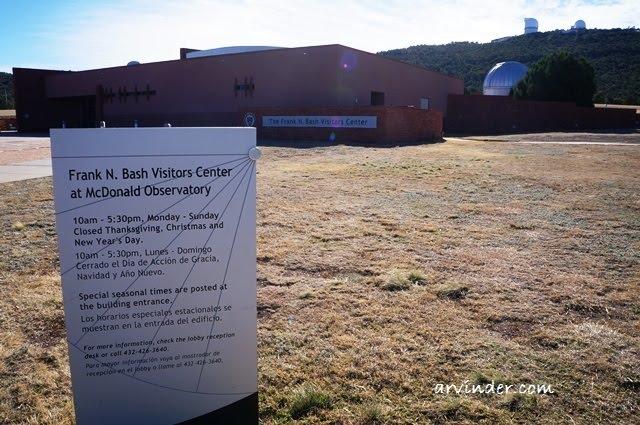 Frank N. Bash Visitors Center at McDonald Observatory