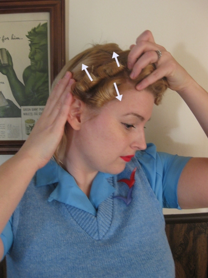 vintage pin curls diagram lighting control wiring multiple light switch electrical 101 tutorial a marilyn curl set va voom fashion since s sets are often all over the place that kind of what i did here row closest to my crown stand up