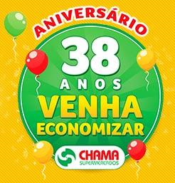 Promoção Chama Supermercados 2017 Aniversário 38 Anos