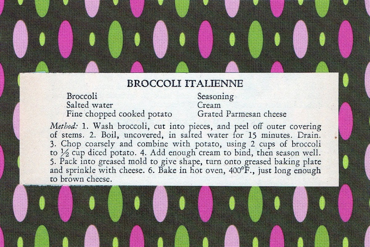 Broccoli Italienne (quick recipe)