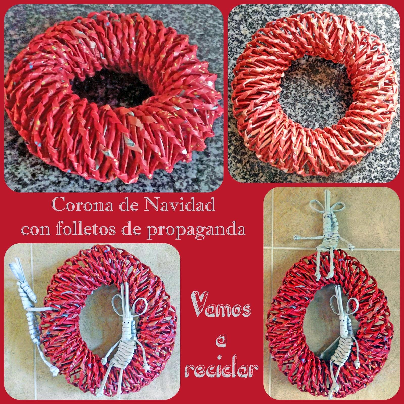 Corona de navidad reciclada aprender manualidades es for Facilisimo com manualidades