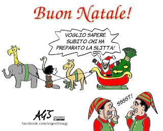 Buon natale, natale 2018, governo del cambiamento, renne, salvini, di maio, umorismo, vignetta, satira