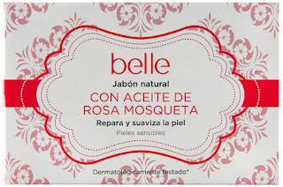 Jabón natural con aceite de rosa mosqueta belle