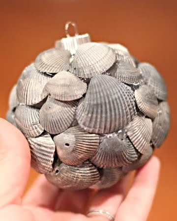 homemade shell ornaments