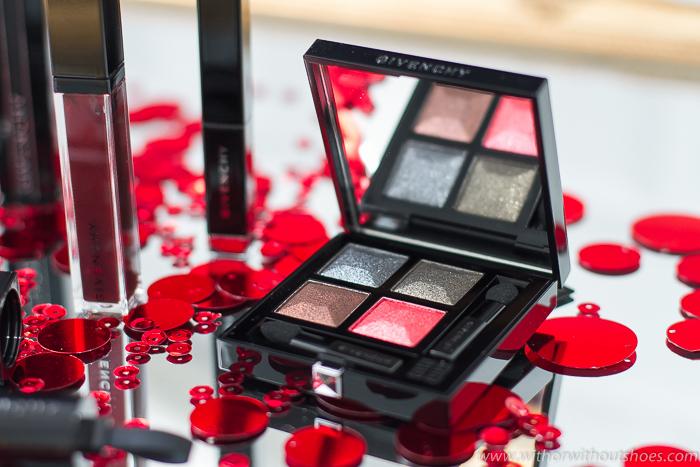 Prisme Quatuor - Black Sparkle paleta de sombras de ojos rojo Givenchy Midnight Skies
