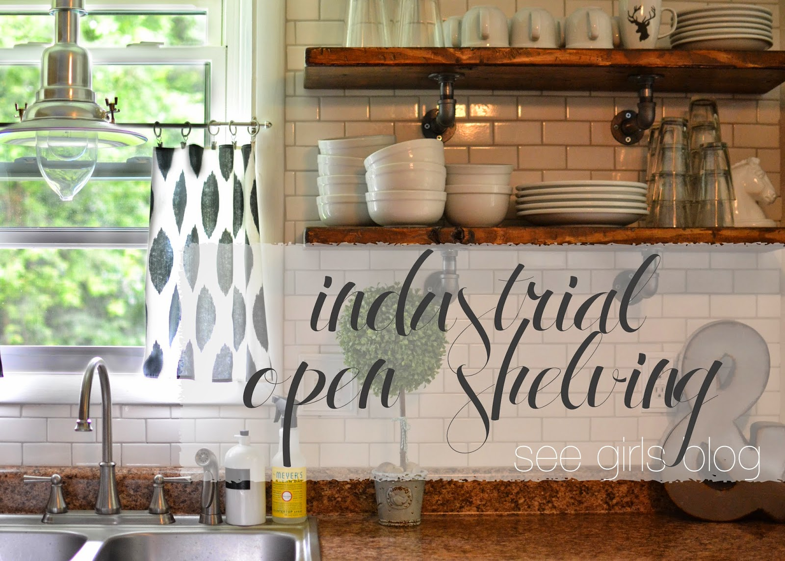 Completely New See Girls Blog: Industrial Open Shelving MN26