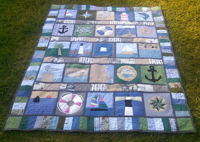 ProsperityStuff Nautical Quilt made of Shirts