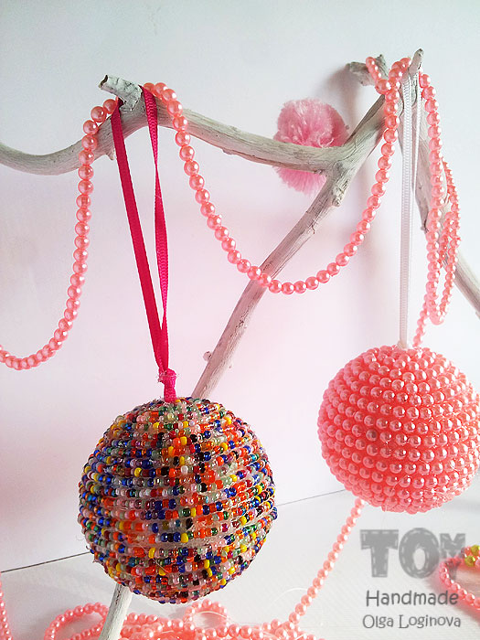 bead ball ornaments