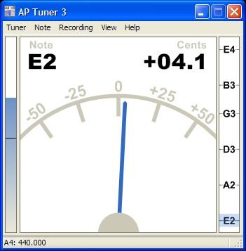 Phần mềm lên dây đàn Guitar AP Tuner