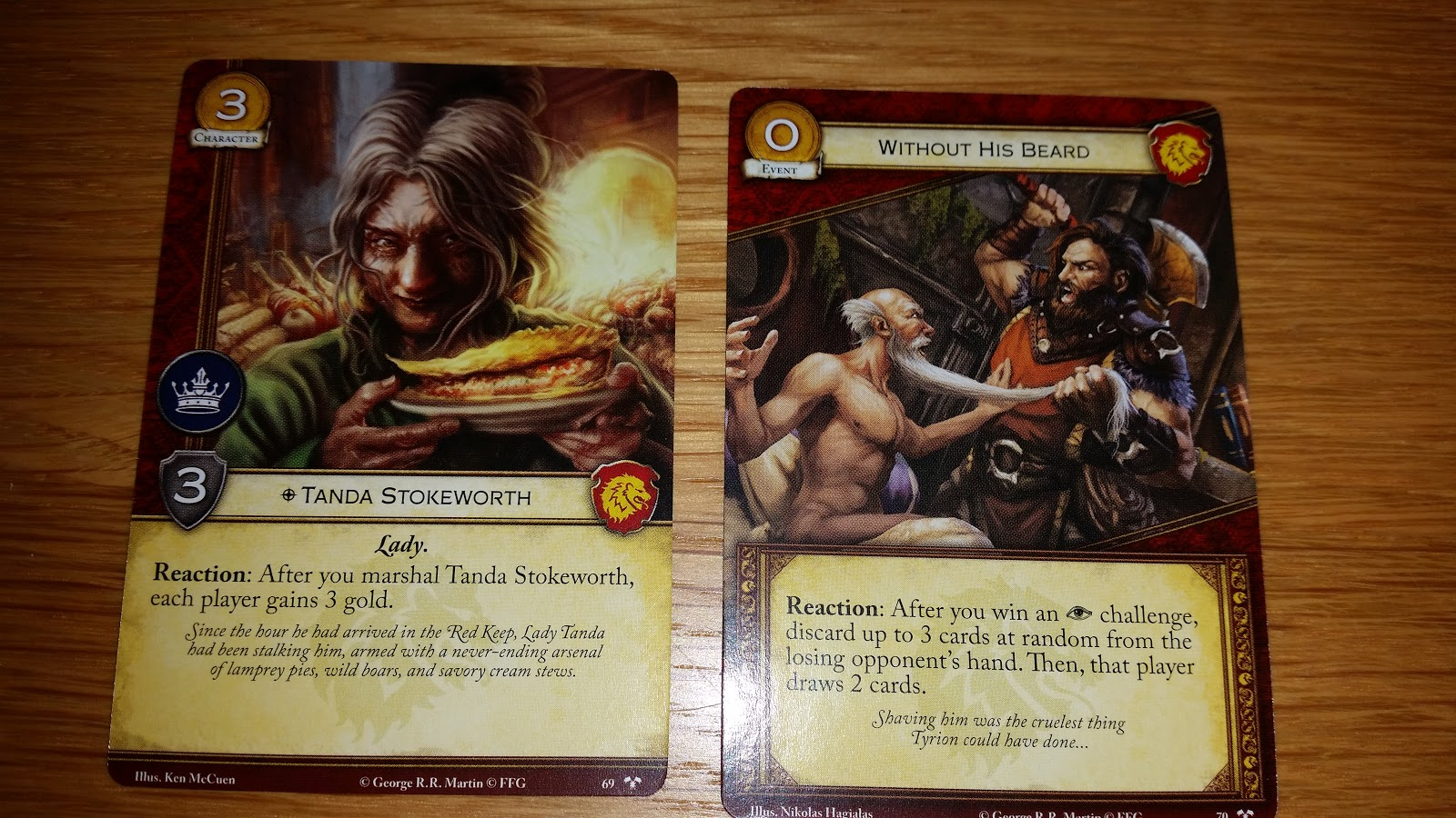 Stokeworth A 3 Cost Strength Character That After She Is Marshalled Lets You And Each Played Gain Gold With Lannisters Always Good
