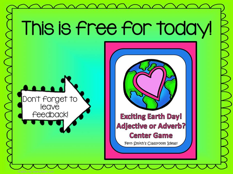 Fern Smith's Throwback Thursday Trio FREEBIES - Adjective or Adverb An Exciting Earth Day Packet