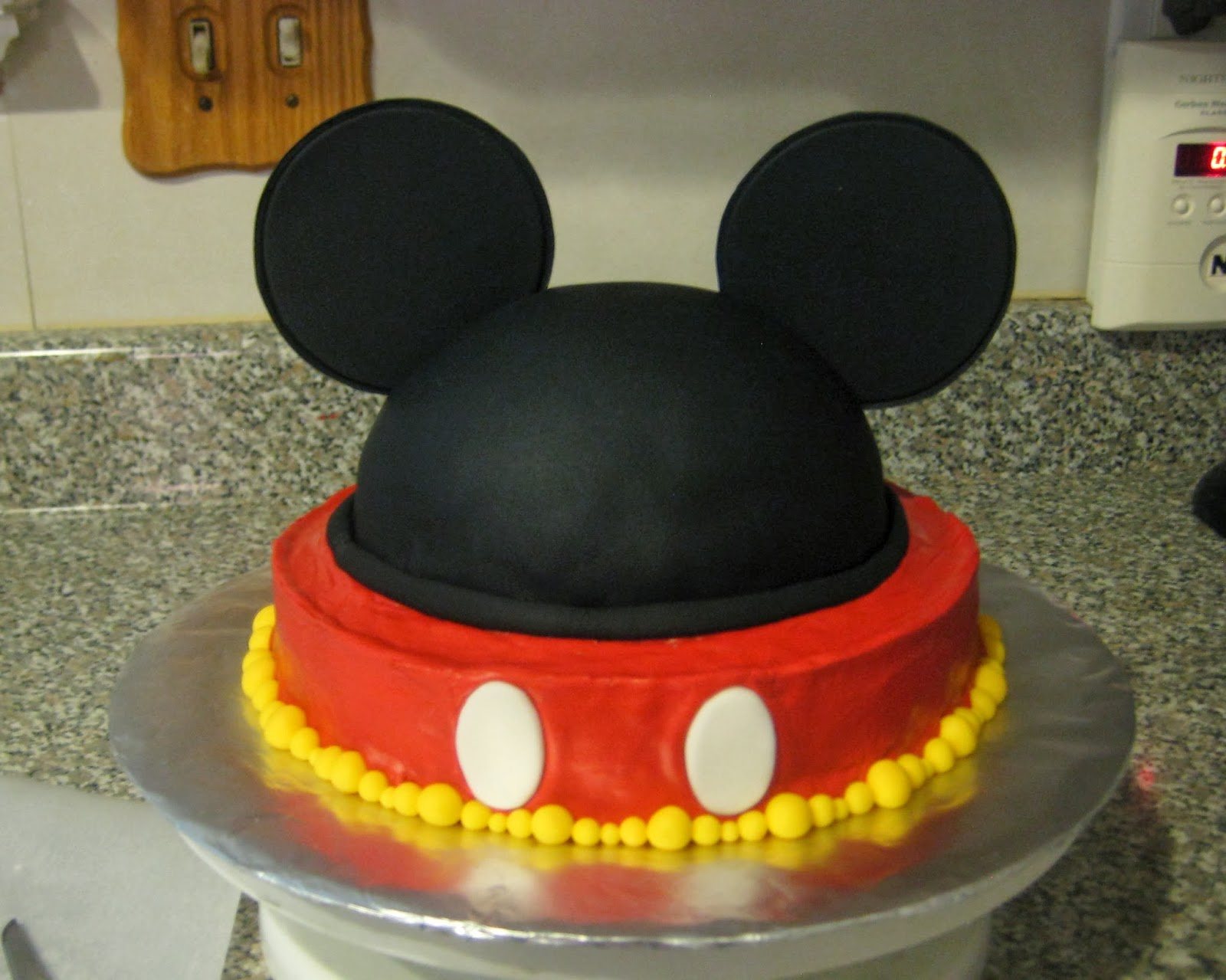 Mickey Mouse Ears Teacher Appreciation Cake No Words View