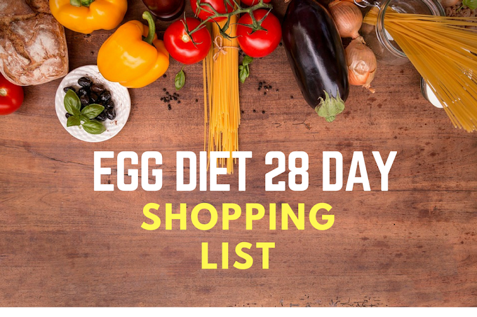 28 day egg diet shopping list