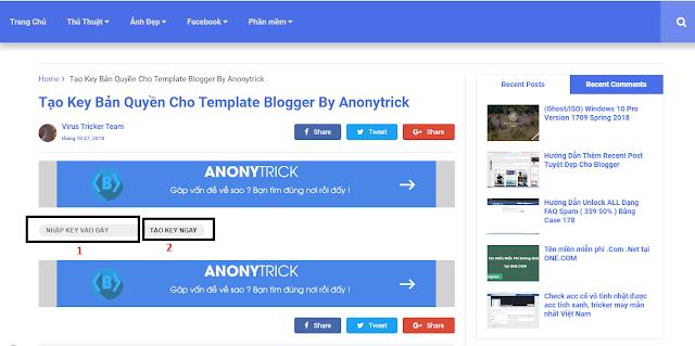Hướng Dẫn Cách Chèn Key Kích Hoạt Template Vào Theme Blogger | Bảo vệ bản quyền Template