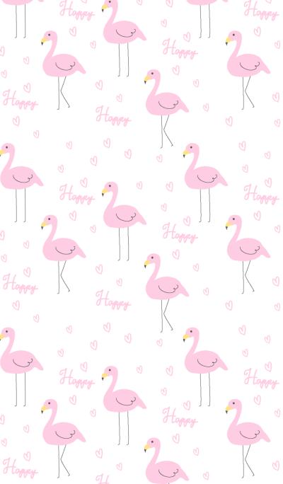 Happy heart flamingo