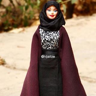 Foto Hijarbie Boneka Barbie Memakai Jilbab Cantik