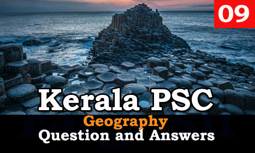 Kerala PSC Geography Question and Answers - 9